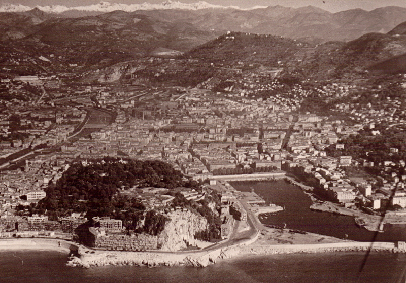 Vue aérienne Nice 1948